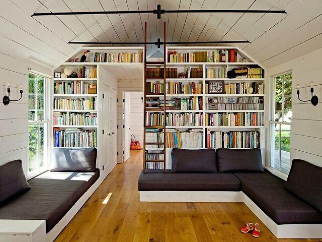 Домашняя библиотека: как организовать место для чтения